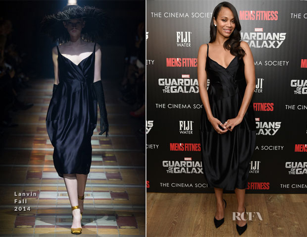 Zoe Saldana In Lanvin - 'Guardians of the Galaxy' New York Special Screening