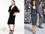 Zoe Saldana In Monique Lhuillier - Late Show With David Letterman