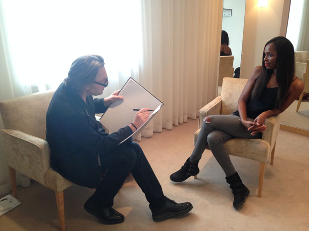 Sketch session with David Downton