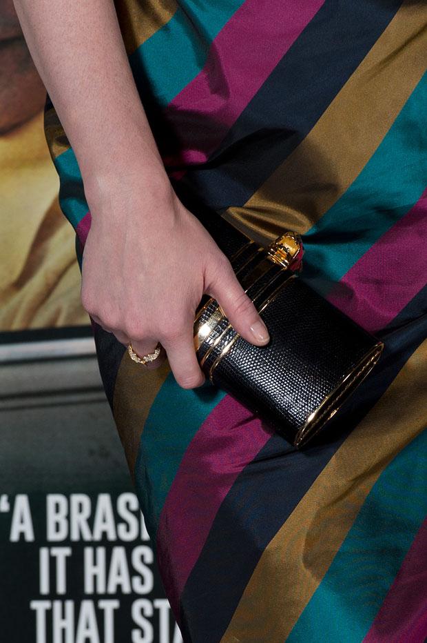 Christina Hendricks' Stark clutch
