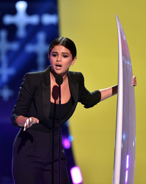 Selena Gomez in Saint Laurent
