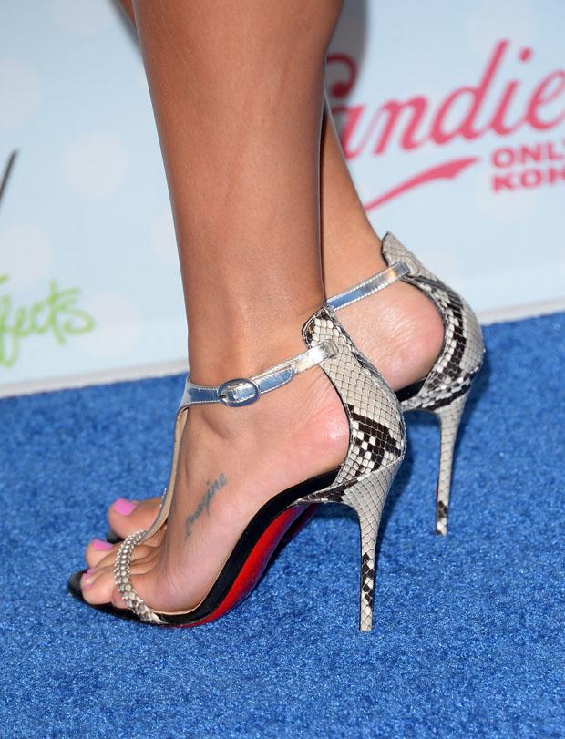 Lea Michele's Christian Louboutin sandals
