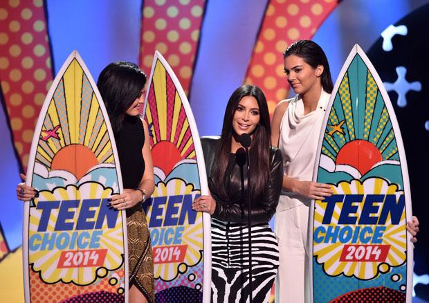 Kylie Jenner in Sass & Bide, Kim Kardashian in Balmain and Kendall Jenner in Oriett Domenech
