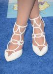 Sasha Pieterse's Oscar Tiye 'Jamila' strappy white sandals