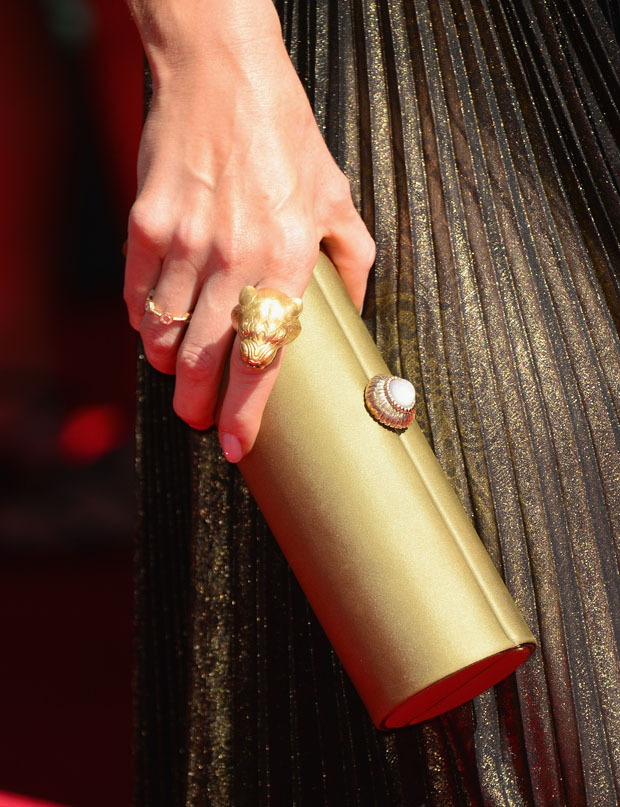 Bellamy Young's Amanda Pearl clutch