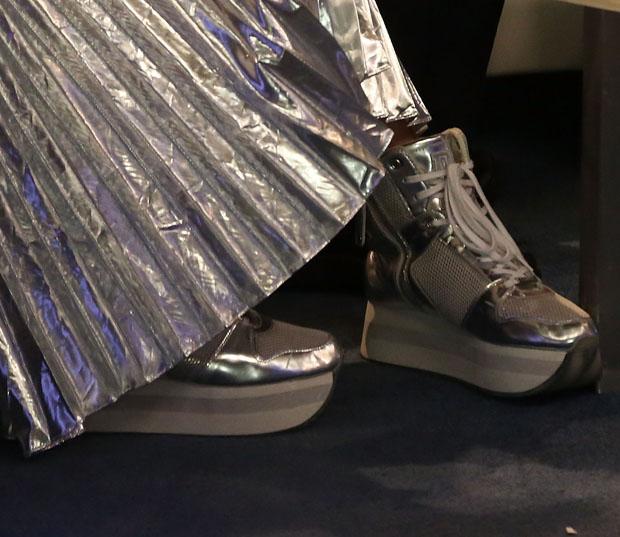 Rita Ora's DKNY sneakers