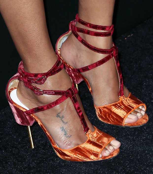 Zoe Saldana's Givenchy sandals