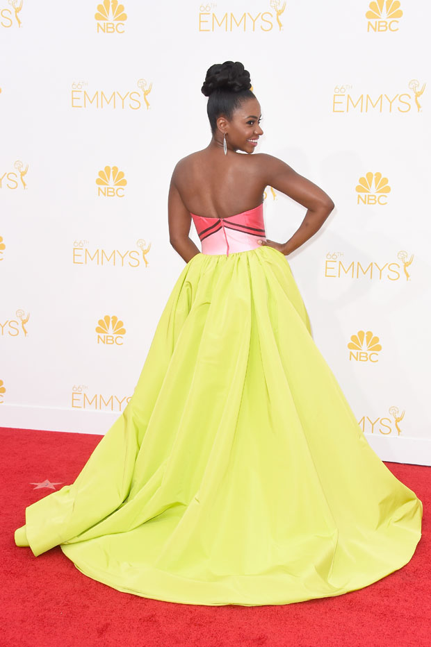 Teyonah Parris in Christian Siriano