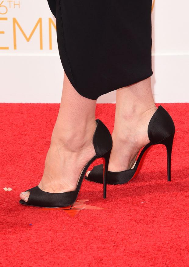 Jessica Pare's Christian Louboutin 'Gardnera' peep-toes