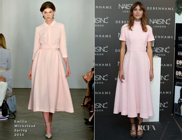Alexa Chung In Emilia Wickstead - Alexa Manicure At Debenhams