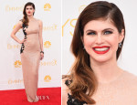 Alexandra Daddario In Reem Acra - 2014 Emmy Awards