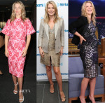 Ali Larter In Christian Siriano, Stella McCartney & Pamella Roland - 'Legends' Promo Tour