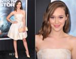Alycia Debnam Carey In Erin Fetherston - 'Into The Storm' New York Premiere