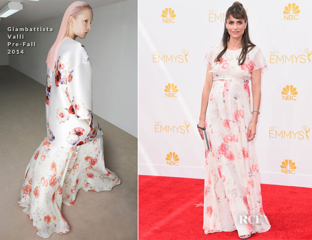 Amanda Peet In Giambattista Valli - 2014 Emmy Awards