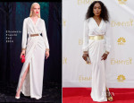 Angela Bassett In Elisabetta Franchi - 2014 Emmy Awards