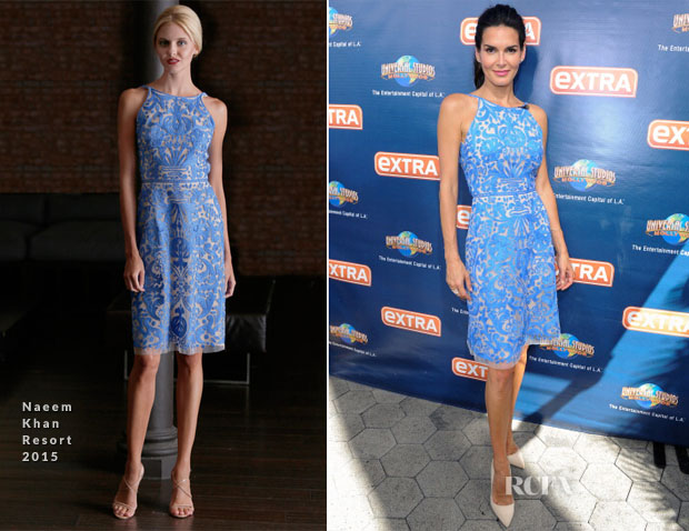 Angie Harmon In Naeem Khan - Extra