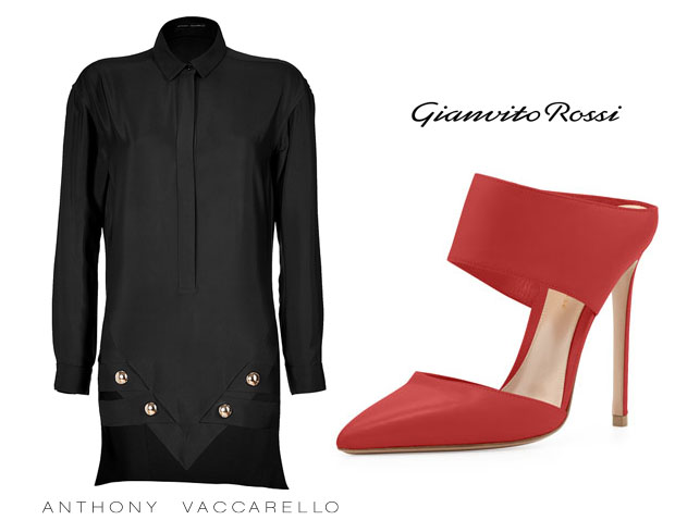 Anthony Vaccarello shirt dress