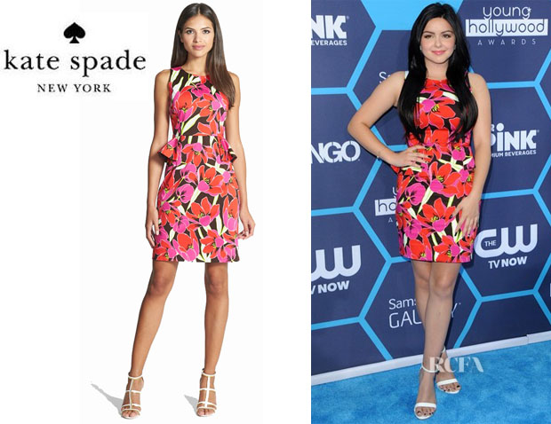 Ariel Winter's Kate Spade New York Tropical Print Peplum Dress