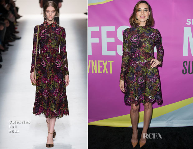 Aubrey Plaza In Valentino - 'Life After Beth' LA Premiere
