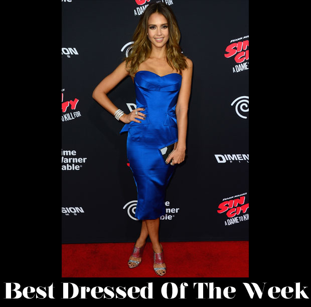 Best Dressed Of The Week - Jessica Alba In Zac Posen