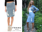 Beyonce Knowles' Frame Denim Le High Pencil Skirt