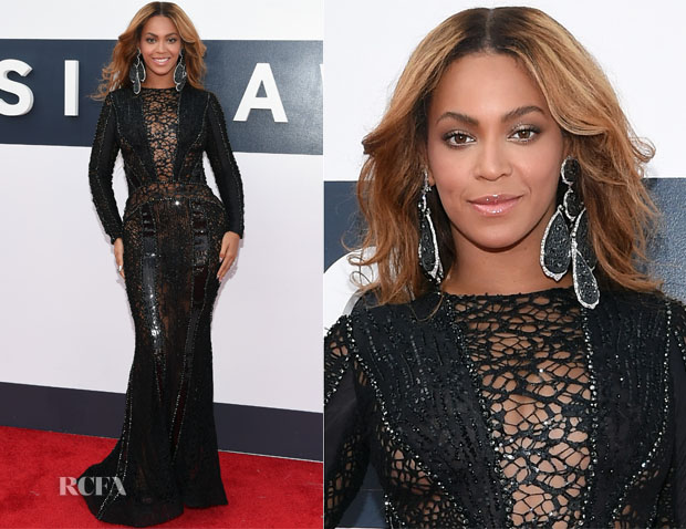Beyonce Knowles In Nicolas Jebran Couture - 2014 MTV Video Music Awards #VMA