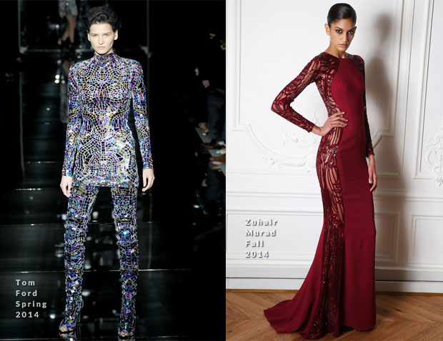 Beyonce Knowles In Tom Ford & Zuhair Murad