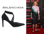 Cameron Diaz' Balenciaga Mesh And Suede Pumps