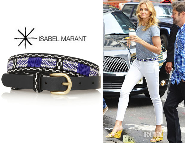 Cameron Diaz' Isabel Marant 'Barbershop' Beaded Leather Belt