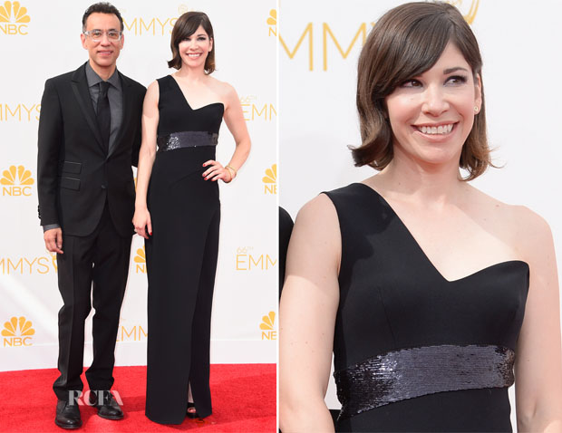 Carrie Brownstein In Halston Heritage - 2014 Emmy Awards