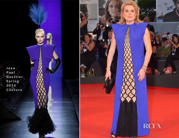 Catherine Deneuve In Jean Paul Gaultier Couture - '3 Coeurs' Venice Film Festival Premiere