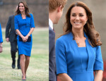 Catherine, Duchess of Cambridge In L.K. Bennett - Ceramic Poppy Field of Remembrance