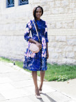 Catherine Kallon MSGM Floral-Print Duchess-Satin Dress