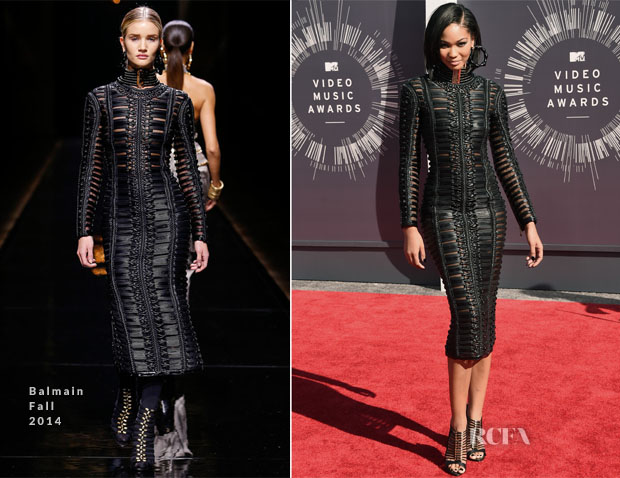 Chanel Iman In Balmain - 2014 MTV Video Music Awards #VMA