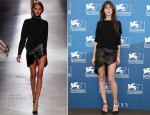 Charlotte Gainsbourg In Anthony Vaccarello - '3 Coeurs' Venice Film Festival Photocall