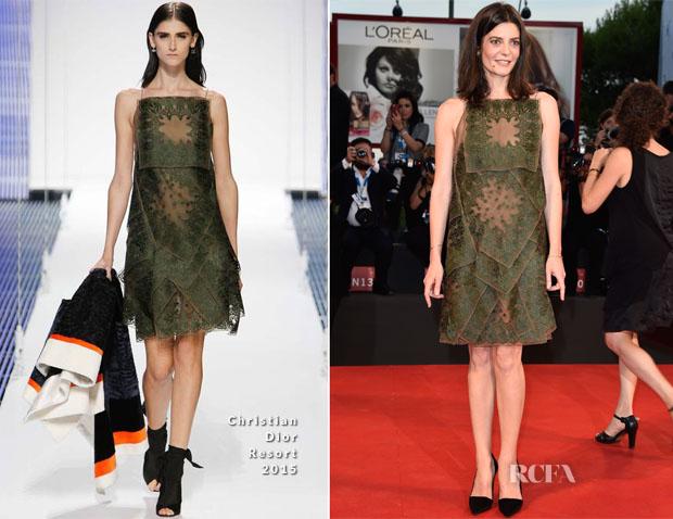 Chiara Mastroianni In Christian Dior - '3 Coeurs' Venice Film Festival Premiere
