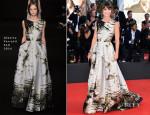 Alessandra Mastronardi In Alberta Ferretti - 'Birdman' Venice Film Festival Premiere & Opening Ceremony