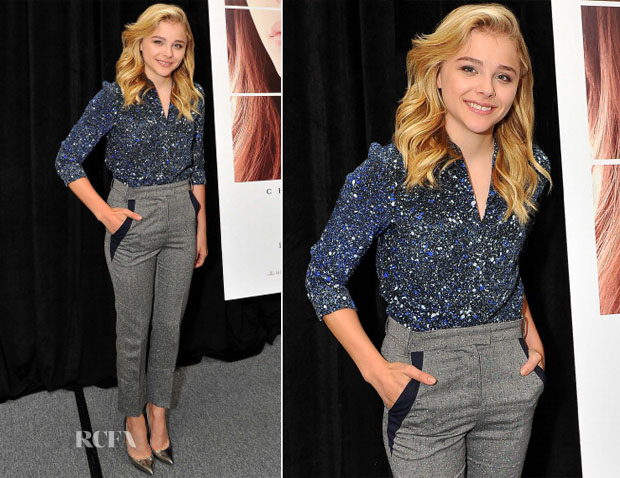 Chloe Grace Moretz In Jonathan Saunders - If I Stay' San Mateo Book Signing