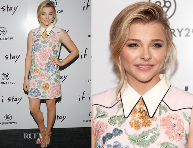 Chloe Grace Moretz In Miu Miu - 'If I Stay' New York Premiere