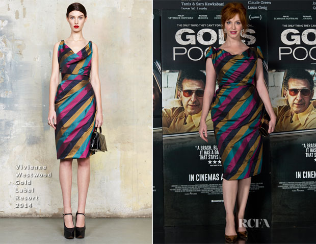 Christina Hendricks In Vivienne Westwood - 'God's Pocket' London Premiere