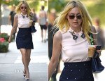 Dakota Fanning In Miu Miu - Out In New York City