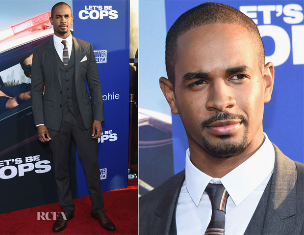 Damon Wayans Jr In Dolce & Gabbana -  'Let's Be Cops' LA Premiere