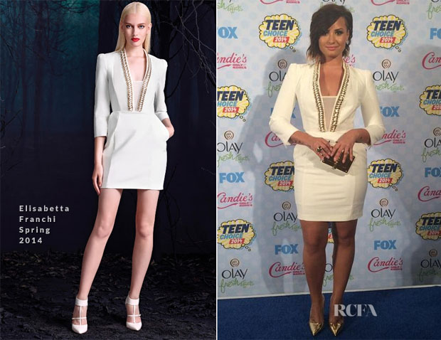 Demi Lovato In Elisabetta Franchi - 2014 Teen Choice Awards
