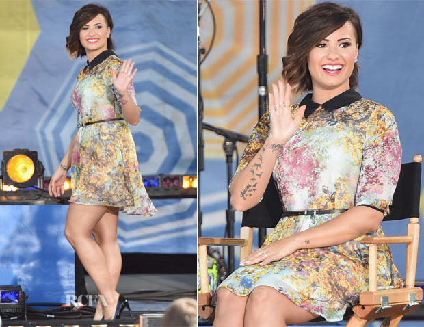 Demi Lovato In Ted Baker London - Good Morning America