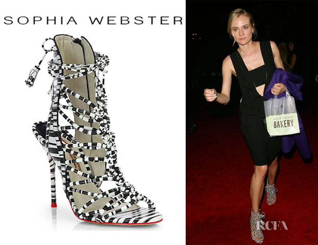 Diane Kruger's Sophia Webster 'Lacey' Stripe Sandals