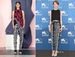 Emma Stone In Proenza Schouler - 'Birdman' Venice Film Festival Photocall