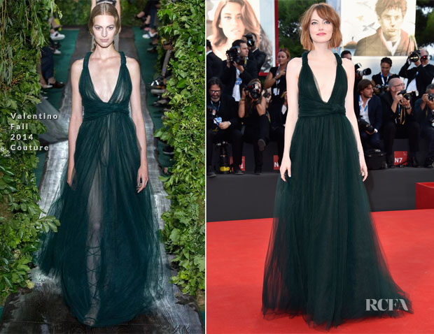 Emma Stone In Valentino Couture - 'Birdman' Venice Film Festival Premiere & Opening Ceremony