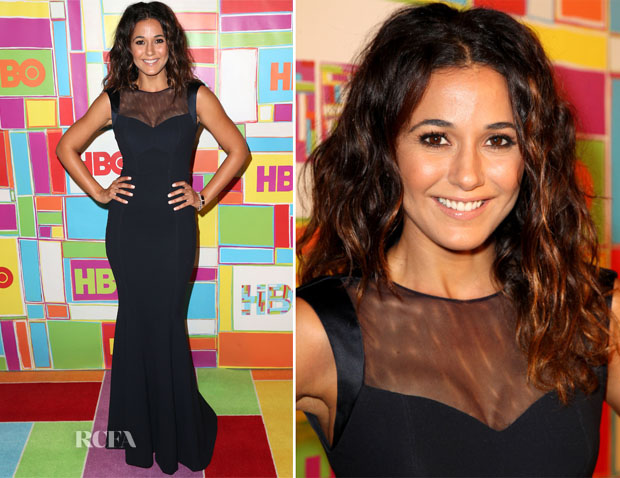 Emmanuelle Chriqui In Gustavo Cadile - HBO's Emmy Awards Post-Awards Reception