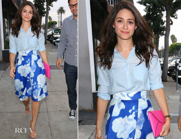 Emmy Rossum In CH Carolina Herrera - Out In LA