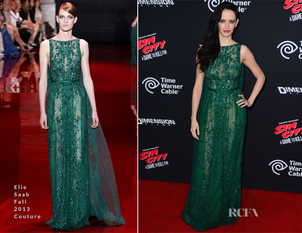 Eva Green In Elie Saab Couture - 'Sin City: A Dame To Kill For' LA Premiere